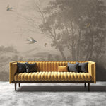 Zephyr Wallpaper Mural in Vintage Sepia