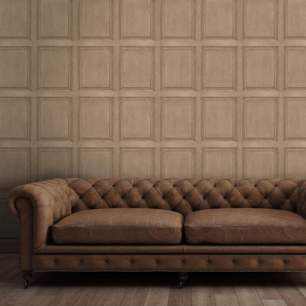 Oak Wood Panel Wallpaper
