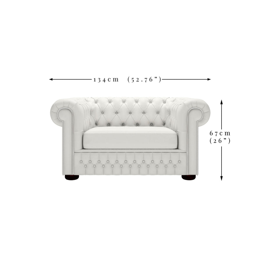 Ava 1.5 Seater Velvet Chesterfield Sofa