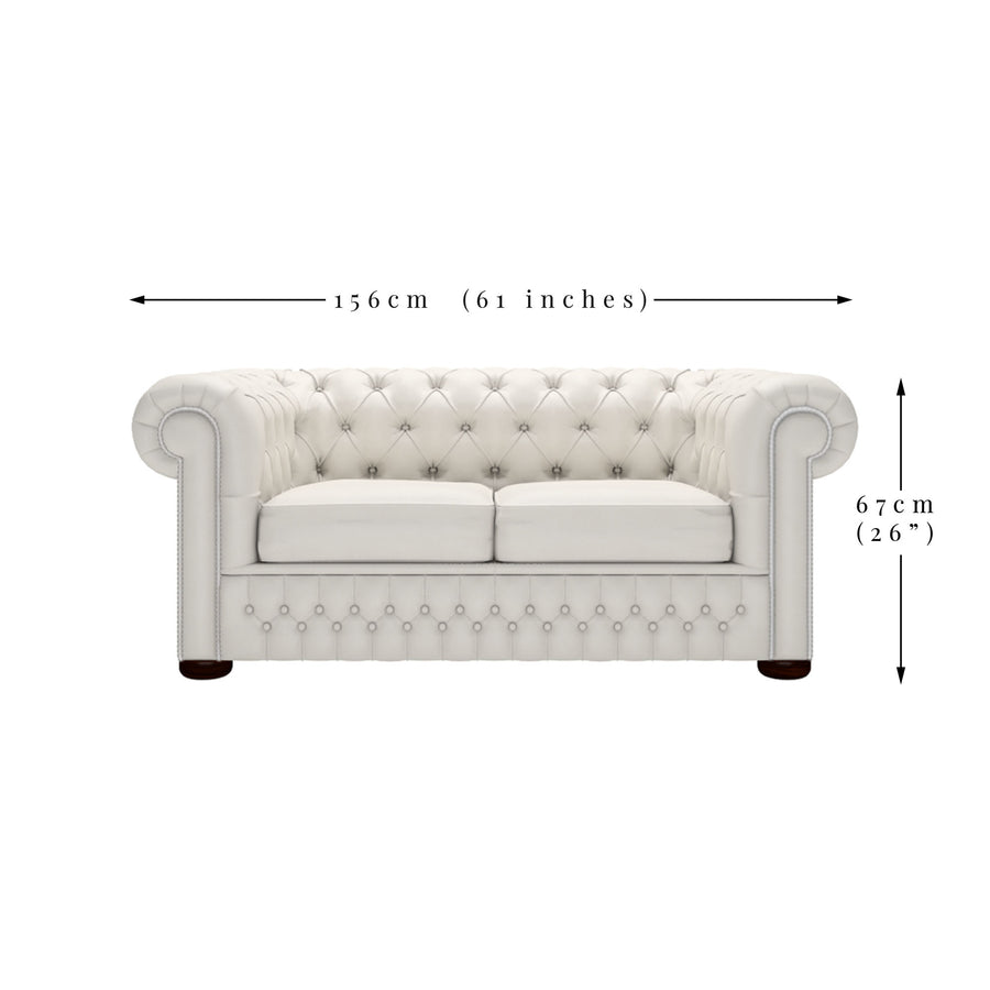 Ava 2 Seater Velvet Chesterfield Sofa