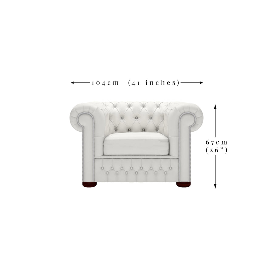 Ava Velvet Chesterfield Chair