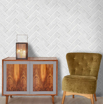 Chevron in White by Woodchip & Magnolia
