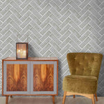 Chevron Grey Tile Wallpaper