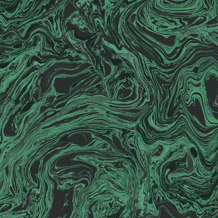 Marbled Flow in Malachite
