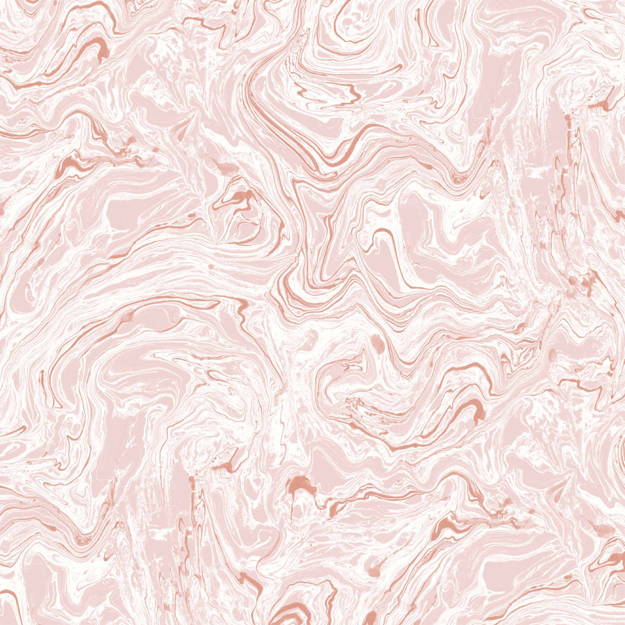 Flow  Blush/White Wallpaper