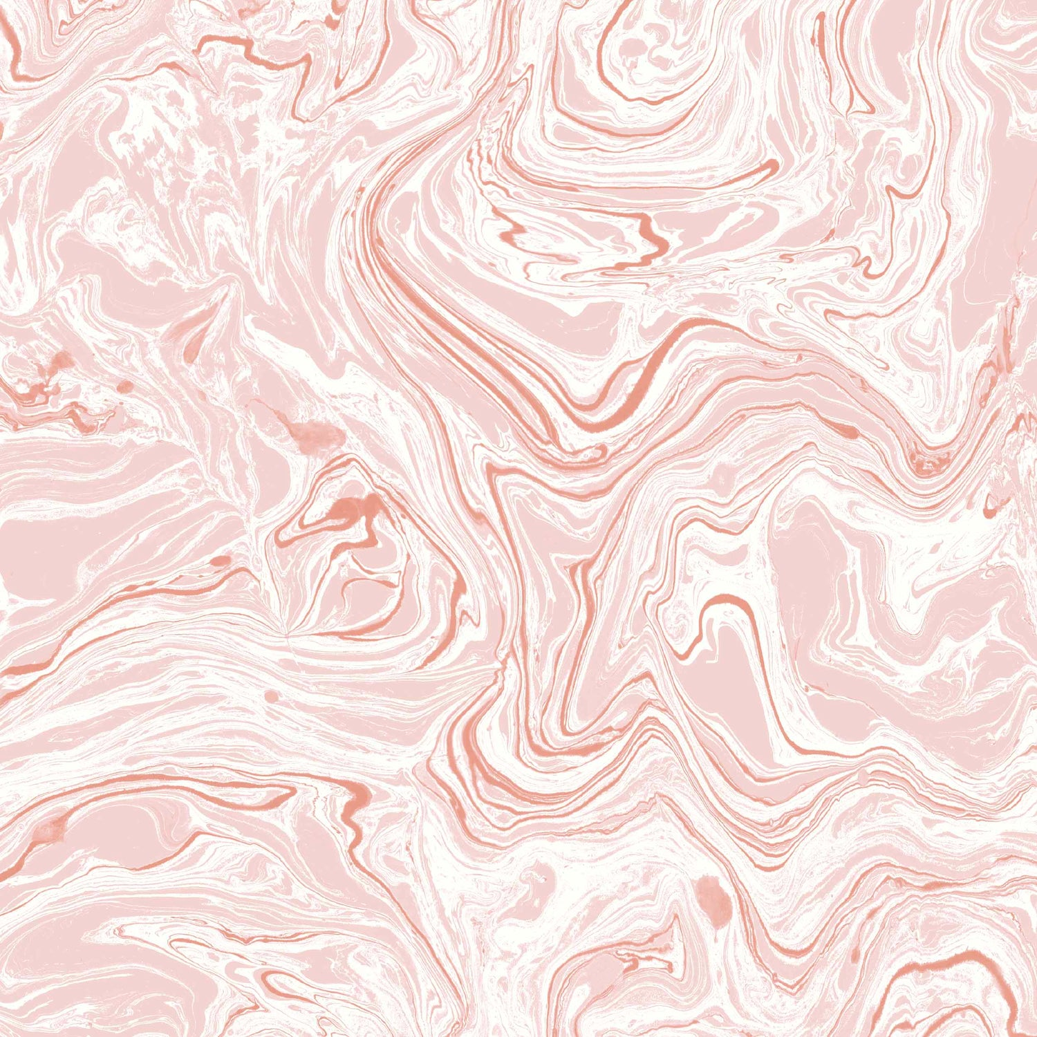 Flow Marble Effect Blush & White Wallpaper