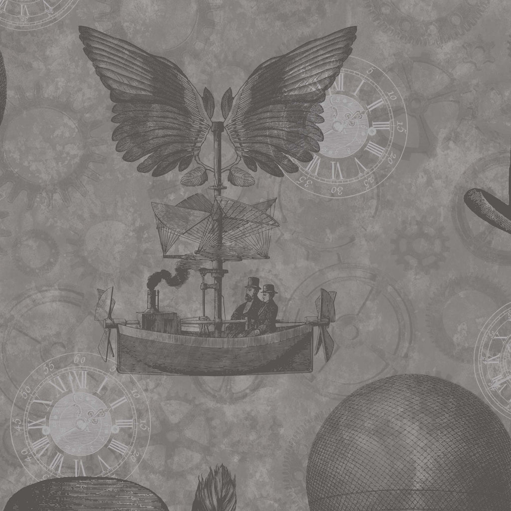 Flying Machines Charcoal by Argent & Ink