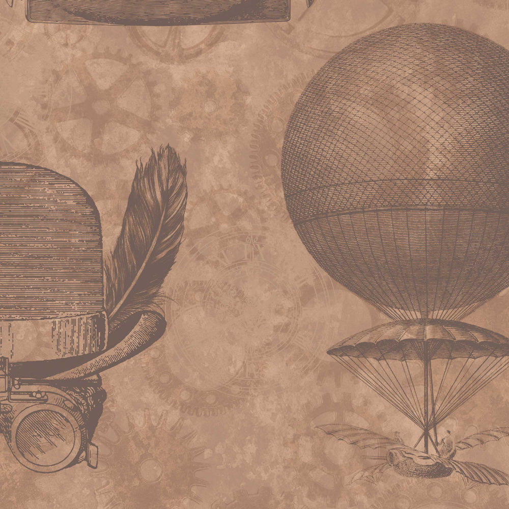 Flying Machines in Tan by Argent & Ink