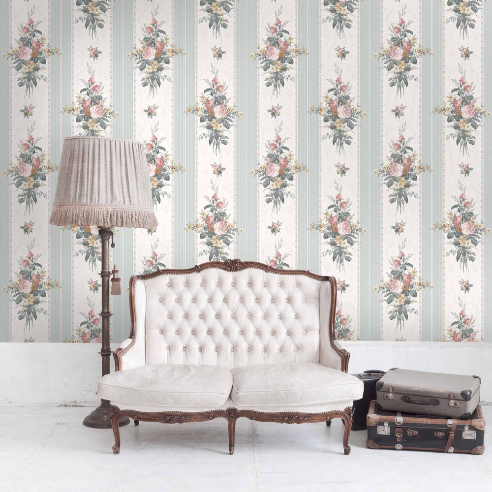 Pavilion Gardens In Mint Wallpaper