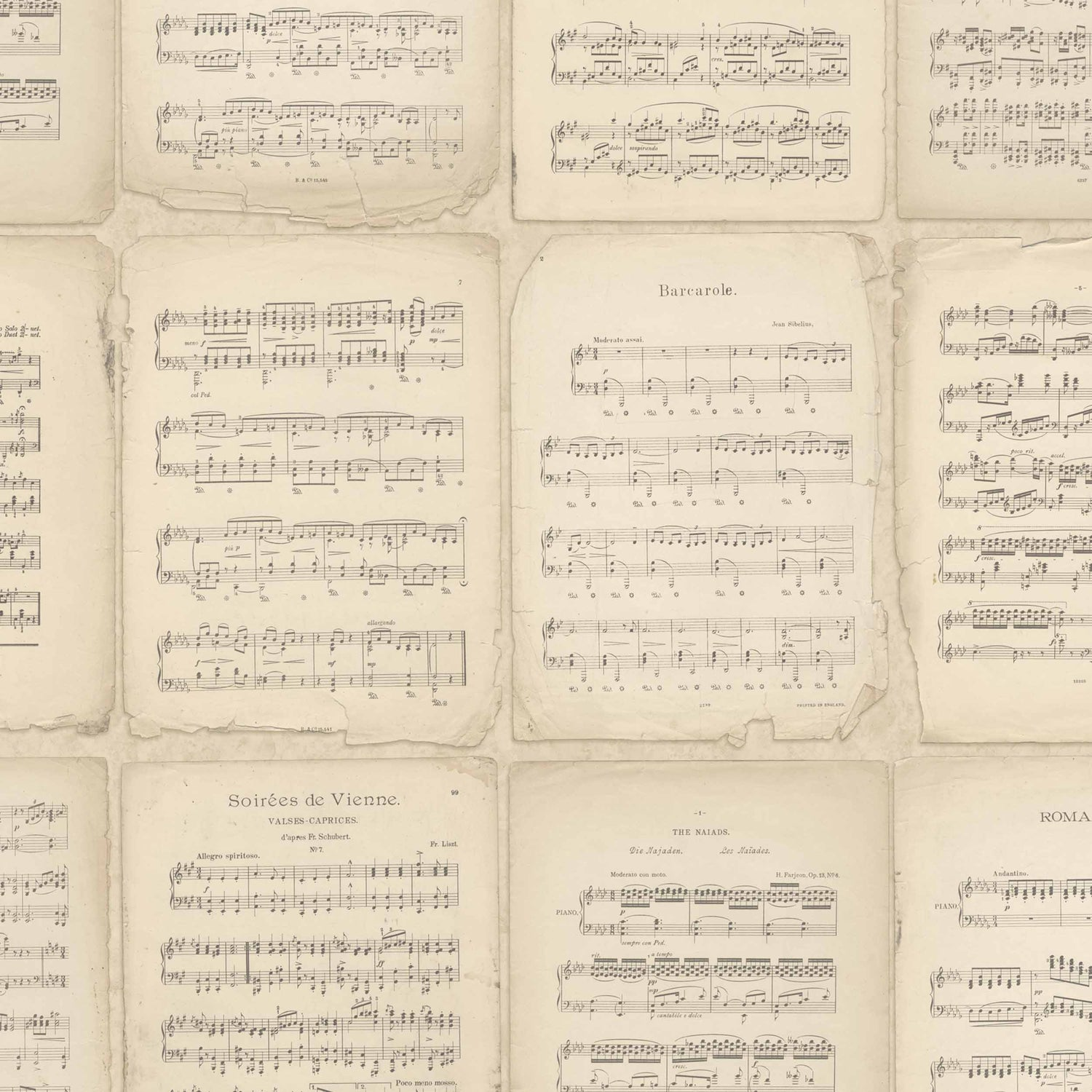Vintage Music Score by Argent & Ink