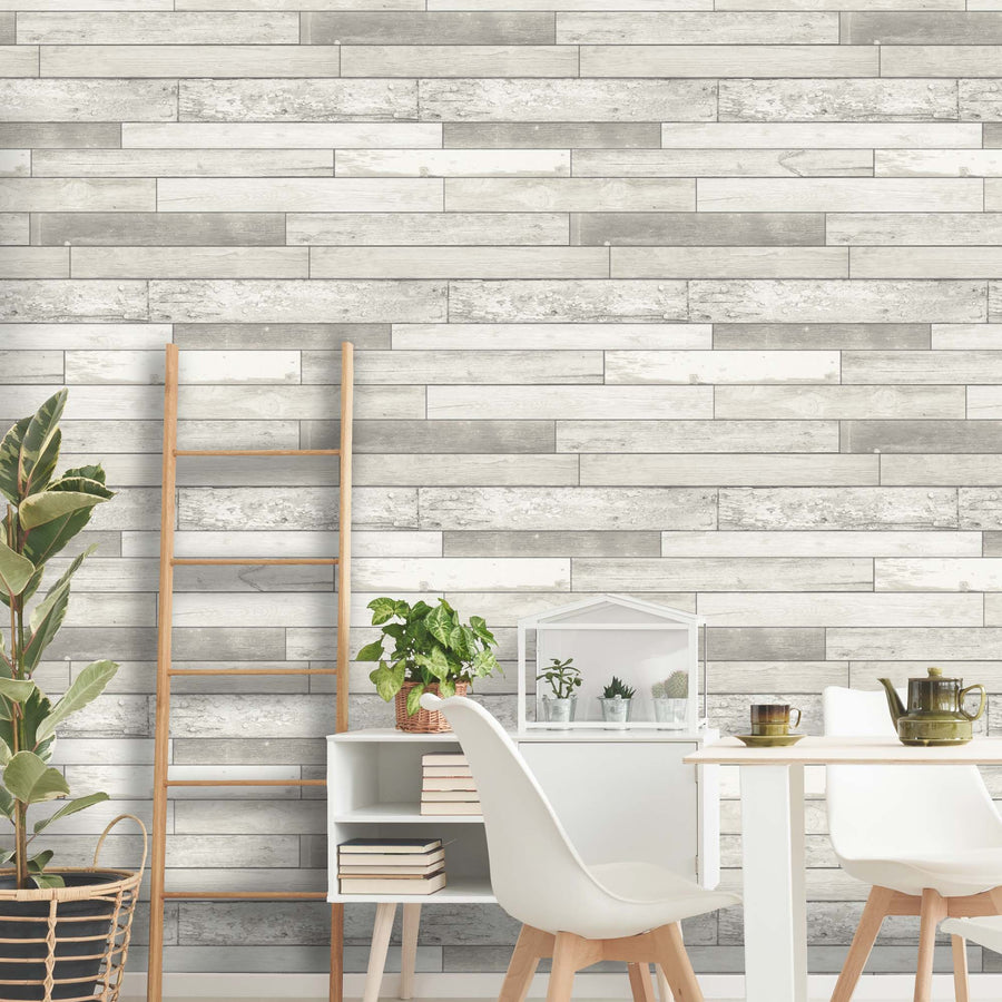 Bleached Wood Wallpaper