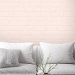 Painted Blush Brick Effect Wallpaper