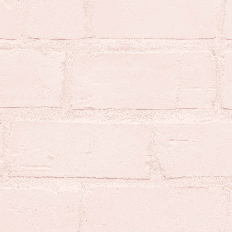 Painted Blush Brick Wallpaper By Woodchip & Magnolia