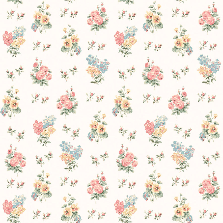 Posies in Cottage Cream Wallpaper