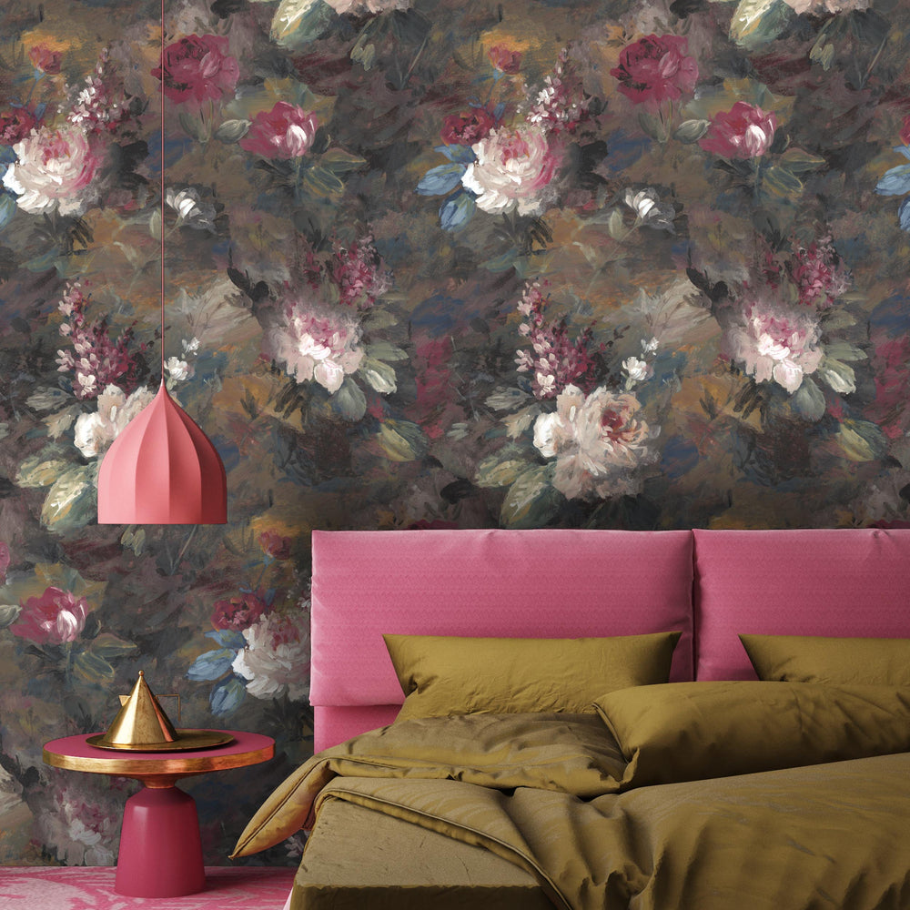 Ava Marika Supersized Moody Floral Wallpaper