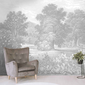 Land of Milk & Honey Grey Wallpaper Wall Mural by Woodchip & Magnolia