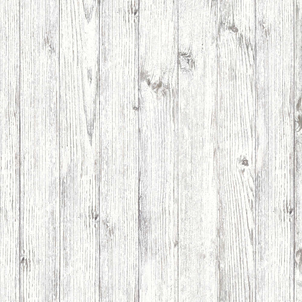 Worn Painted Wood Wallpaper