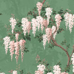 Wisteria in Botanical Green Floral Wallpaper by Woodchip & Magnolia