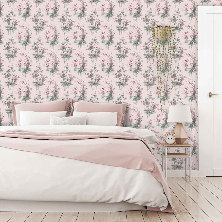Magical Garden in Pink Wallpaper