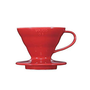 Hario V60 Ceramic Dripper 01-red Karajoz Coffee Company