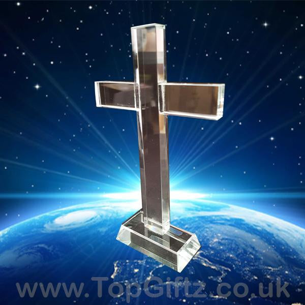 Silver/Gold Plated Cross & Crucifix With/Without LED