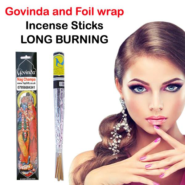 Nag Champa Foil Wrap & Govinda Incense Sticks