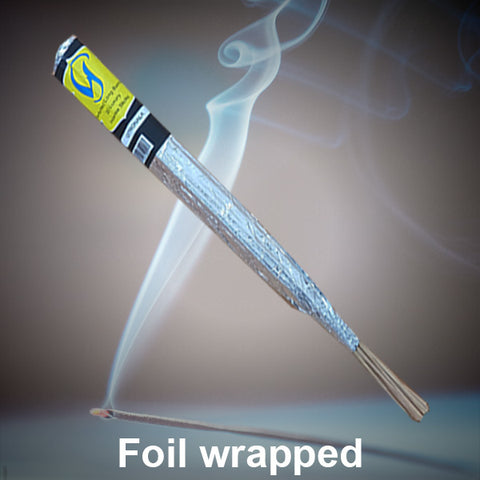Foil Wrap Incense Sticks Individually Made Dipped & Rolled