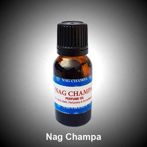 Nag Champa Perfume Body Bath Oil Relaxing Aromatherapy  - 15ml