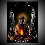 Thai Buddha Abstract High Resolution Picture In Crystal Frame