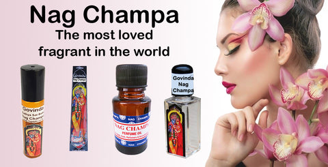 Worlds most loved Nag Champa Body Perfume Oil and incense sticks
