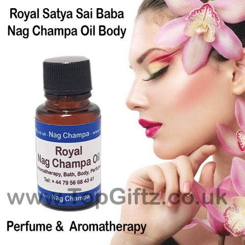 Nag Champa Royal Perfume & Body Oil Satya Sai Baba 15ml - TopGiftz