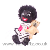Golliwog Wog Golly Resin 3 Asst Figure Mini holding a teddy bear