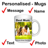 Personalised Mothers Day Mug With Text And Photo - Ideas - TopGiftz