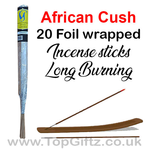 African Cush Incense Sticks Foil Wrapped - Govinda