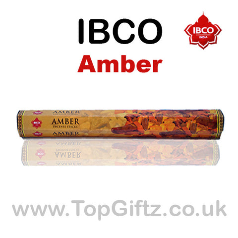 IBCO Amber HEX Incense Sticks Natural Gum Mood - Relaxation