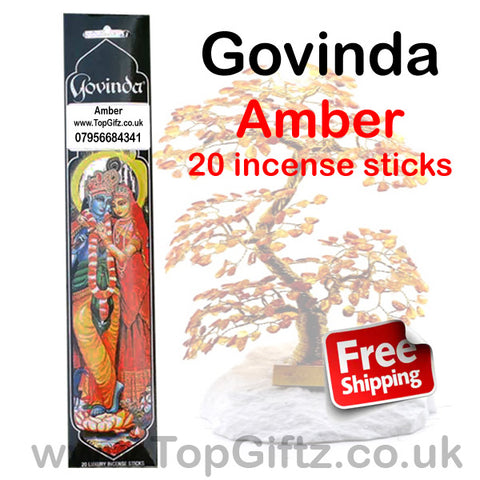 Govinda Amber Incense Sticks Premium Quality Masala