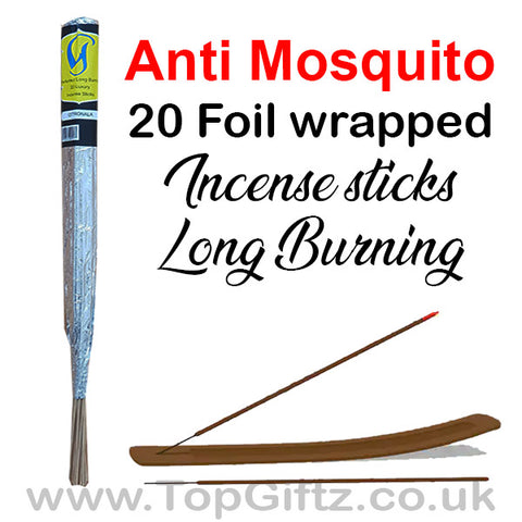 Citronella Anti Mosquito Incense Sticks Foil Wrapped Govinda