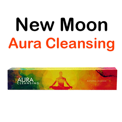 New Moon Aura Cleansing Natural Incense Sticks & Well Being