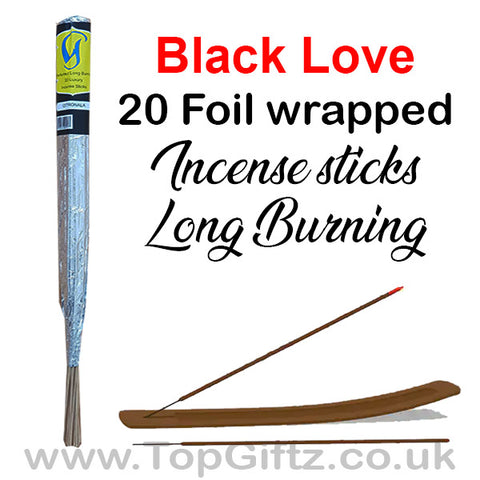 Black Coconut Incense Sticks Foil Wrapped - Govinda