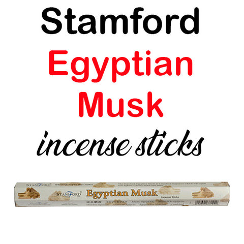 Stamford Egyptian Musk Incense Sticks Hex Premium Quality