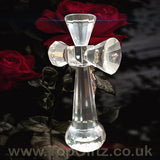 Clear Crystal Cut Glass Crucifix Cross Ornament - 14cm High_5