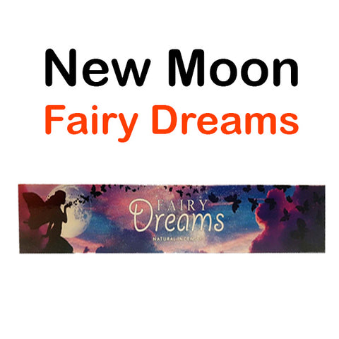 New Moon Fairy Dreams Natural Incense Sticks Happiness