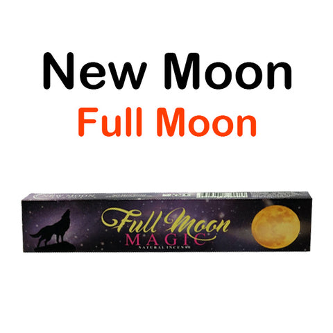 New Moon Full Moon Magic Natural Incense Sticks Spiritual