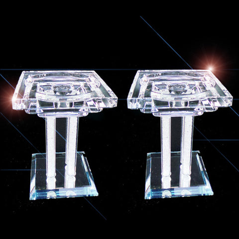 Pair of Crystal Church Candle Holders - TopGiftz