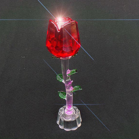 Crystal Valentines Day Single Red Rose - LED - TopGiftz