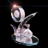 Quartz Clock Swans Crystal Bush Desktop - 16cm - topgiftz