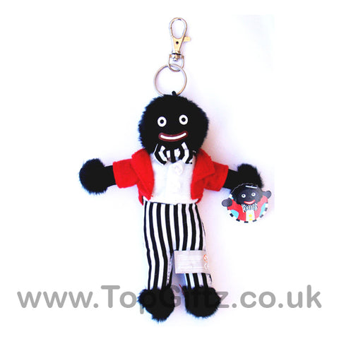 Golliwog Golly Wog Soft Rag Doll Toy Key Ring - 15cm High - TopGiftz