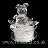 Crystal Clear Teddy Bear Ornament Sitting Circular Round LED_3