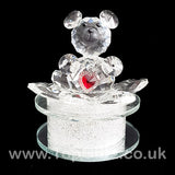 Crystal Clear Teddy Bear Ornament Sitting Circular Round LED_6