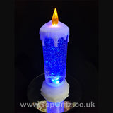 Colour Changing LED Candle Christmas Glitter Water Flickering_8